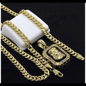 Chain 925 chapado en oro 14k